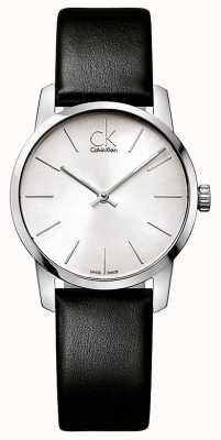 Calvin Klein reloj de señoras de la ciudad K2G231C6