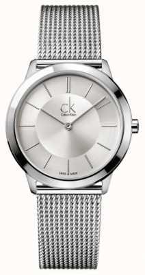 Calvin Klein Colección mínima | correa de malla de acero inoxidable | K3M22126