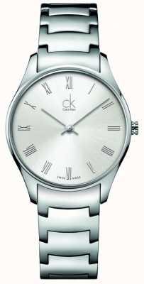 Calvin Klein damas de acero inoxidable reloj clásico K4D2214Z