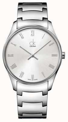 Calvin Klein Reloj para hombre de plata clásico K4D2114Z