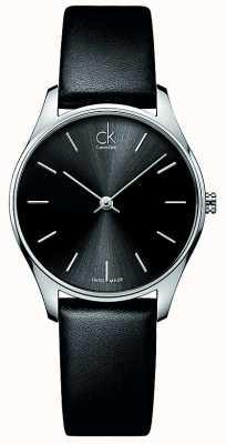 Calvin Klein reloj de las mujeres de cuero clásicas K4D221C1