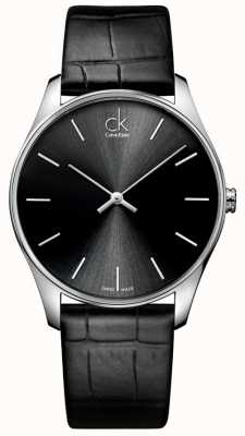 Calvin Klein Mens clásico reloj negro K4D211C1