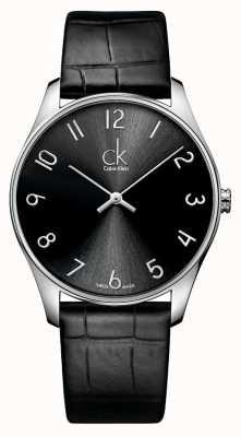 Calvin Klein de cuero para hombre clásico del reloj K4D211CX