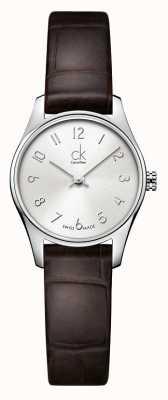 Calvin Klein Señoras clásico reloj marrón plata K4D231G6