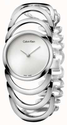 Calvin Klein Reloj de plata cuerpo Ladies K4G23126