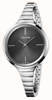 Calvin Klein Reloj de plata negro Señoras animado K4U23121