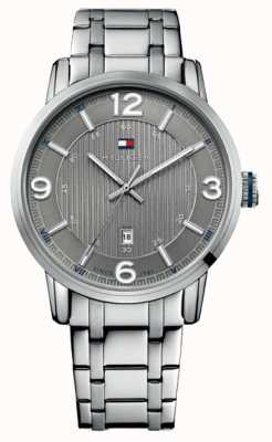 Tommy Hilfiger Ex display mens gris y silver george watch 1710345