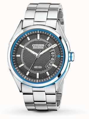 Citizen Reloj ecológico para hombre con pulsera de acero inoxidable htm date date AW1141-59E