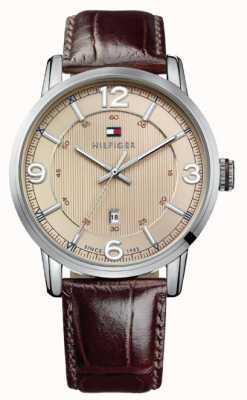 Tommy Hilfiger Mens George reloj con esfera crema 1710343