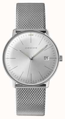 Junghans Reloj max bill de acero inoxidable para hombre 041/4463.48