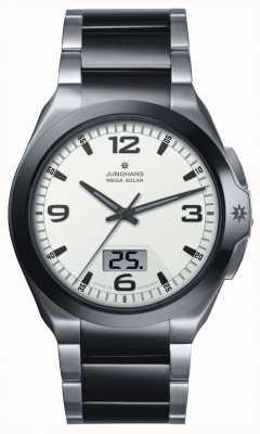 Junghans Hombres, spektrum Mega solar, acero y reloj de cerámica negro 018/1423.44