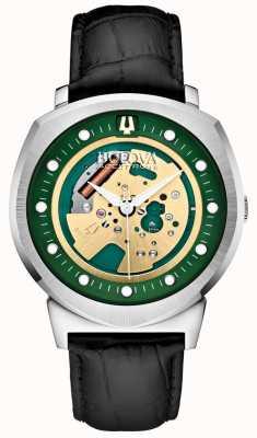 Bulova Mens accutron reloj del tono esqueleto ii plata 96A155
