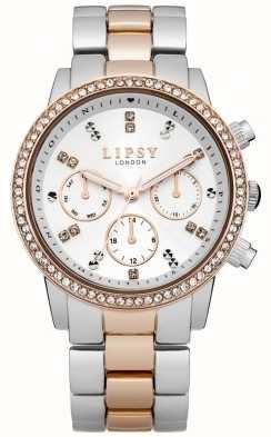 Lipsy Señoras blancas y reloj pulsera de dos tonos LP161