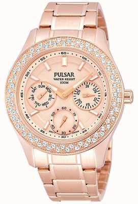 Pulsar reloj del vestido de acero de múltiples funciones de las señoras PP6120X1