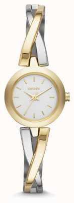 DKNY Señoras crosswalk reloj de plata de oro NY2171