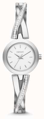 DKNY Señoras crosswalk reloj conjunto piedra plata NY2173