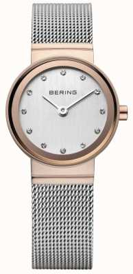 Bering clásico reloj de las mujeres aumentó en tono dorado 10126-066