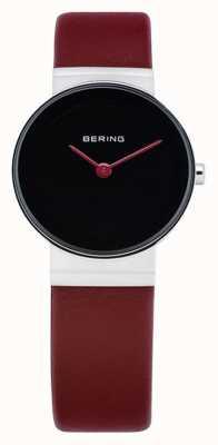 Bering Para mujer clásico, negro, cuero de la cereza 14531-642
