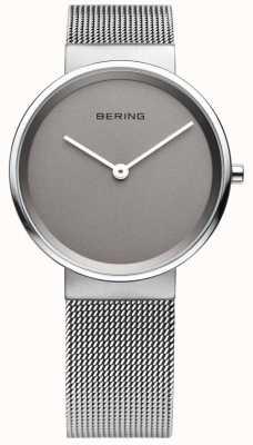 Bering Para hombre clásico, malla, reloj de esfera gris 14539-077