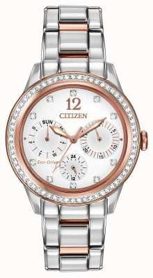 Citizen Mujer del reloj de cristal de la silueta FD2016-51A