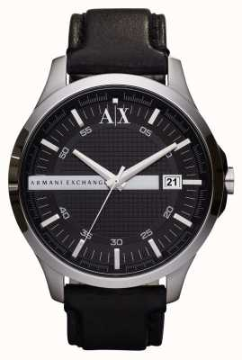 Armani Exchange reloj de la correa de cuero de los hombres fecha AX2101