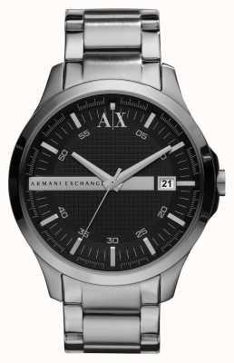 Armani Exchange reloj del tono de plata caballeros inteligentes AX2103