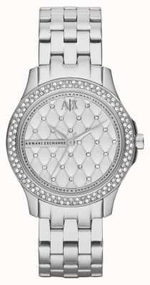 Armani Exchange Para mujer Conjunto de cristal de la pulsera de acero inoxidable inteligente AX5215