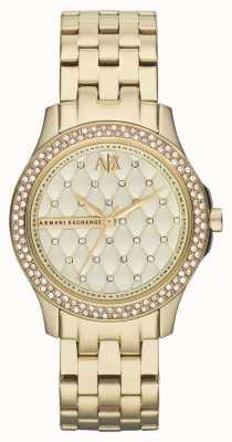 Armani Exchange Para mujer Conjunto de cristal de la pulsera plateada de oro elegante AX5216