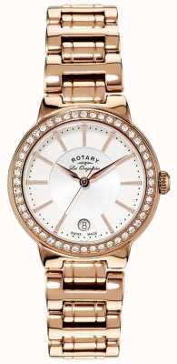 Rotary Señoras les originales, placa de oro, reloj radio de galena LB90085/02L
