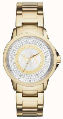 Armani Exchange Para mujer conjunto cristal plateado del oro urbana AX4321