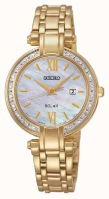 Seiko Diamante del reloj alimentado por energía solar Ladies ' SUT182P9