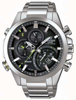 Casio Edificio bluetooth sincronización resistente solar smartwatch negro EQB-501D-1AER