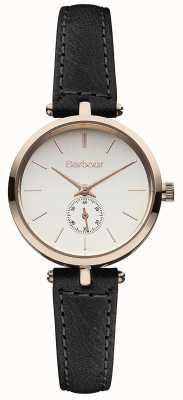 Barbour Lisle reloj correa de cuero negro BB011RSBK