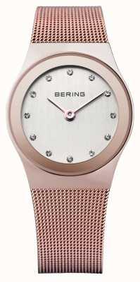 Bering Damas de acero inoxidable reloj análogo de cuarzo 12927-366