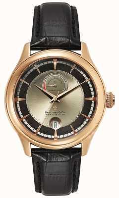 Dreyfuss Mens reserva de marche reloj color de rosa de oro DGS00113/04