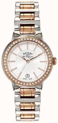 Rotary Reloj de mujer en acero inoxidable con cristal rosa original. LB90083/02