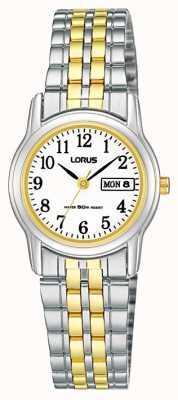 Lorus Reloj correa de pulsera de dos tonos RXU11AX9