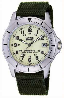 Lorus Analógico reloj de la correa de lona de Gent RXH005L9