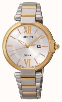 Seiko Solar reloj accionado Ladies ' SUT154P1