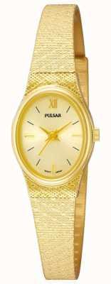 Pulsar Reloj pulsar para mujer | correa de malla dorada | PK3032X1
