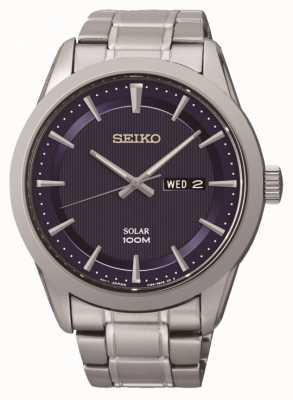 Seiko Reloj para hombre con energía solar SNE361P1