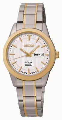 Seiko Señoras día / fecha reloj de la exhibición SUT162P1