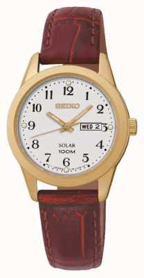 Seiko Solar reloj accionado Ladies ' SUT196P1