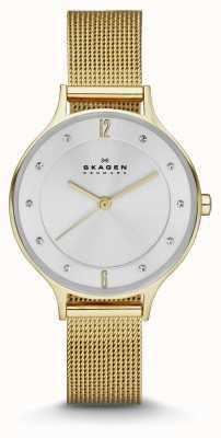 Skagen Damas anita oro plateado reloj pulsera SKW2150