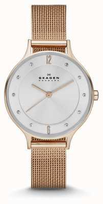 Skagen Ladies anita subieron reloj malla de oro SKW2151