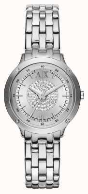 Armani Exchange correa de reloj de pulsera de cristal AX5415
