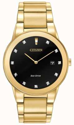 Citizen | axiom para hombre eco-drive | juego de diamantes esfera negra | AU1062-56G