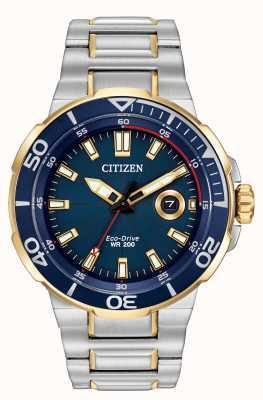 Citizen reloj para hombre del esfuerzo de conducción ecológica AW1424-54L