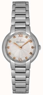 Dreyfuss Reloj de plata para mujer con diamantes. DLB00060/D/01