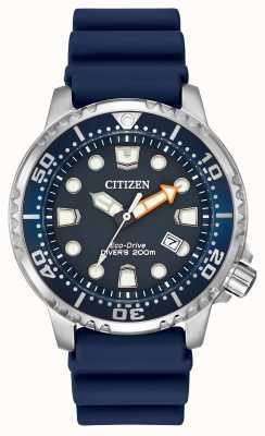 Citizen Caballeros de goma azul solar reloj analógico alimentado BN0151-09L